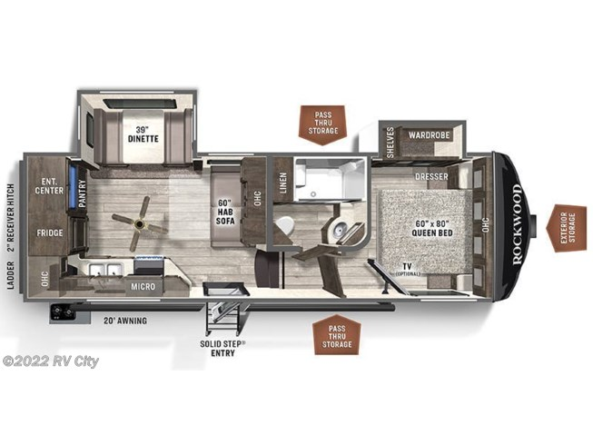 Floorplan of 2021 Forest River Flagstaff Super Lite 524EWS