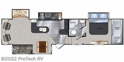 Floorplan of 2012 Keystone Alpine 3450RL