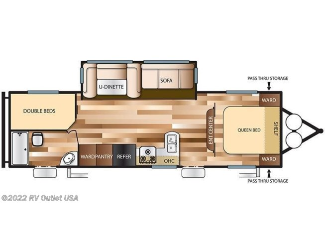 2018 Forest River Wildwood X-Lite 263BHXL floorplan image