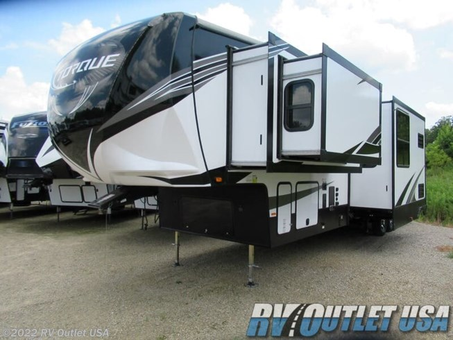 2020 Heartland Torque 373 - New Toy Hauler For Sale by RV Outlet USA in Ringgold, Virginia features 50 Amp Service, Air Conditioning, Alloy Wheels, Aluminum Entrance Steps, AM/FM/CD, Automatic Leveling Jacks, Auxiliary Battery, Bath & 1/2, Battery Charger, Black Tank Flush, Cable Prepped, CO Detector, Converter, Detachable Power Cord, Enclosed Underbelly, Enclosed Water Tank, Exterior Speakers, External Shower, Fuel Cell w/ Pump Station, Furnace, Heated Underbelly, Heated Water Tank, Hide-A-Bed, Inverter, King Size Bed, LED HDTV, LED Lights, Load Lights, LP Detector, Microwave, Outside Entertainment Center, Outside Kitchen, Oven, Pantry, Pass Thru Storage, Power Awning, Powered Landing Legs, Propane, Rear Ramp Door, Recliner(s), Refrigerator, Roof Vent, Roof Vents, Screen Door, Second Roof A/C, Skylight, Slam Latch Baggage Doors, Slideout, Smoke Detector, Solid Surface Countertops, Spare Tire Kit, Stainless Appliances, Stove, Theater Seating, Tinted Windows, TV, TV Antenna, Wardrobe(s), Washer/Dryer Prep, Water Heater