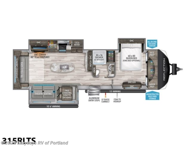 New 2021 Grand Design Reflection 315RLTS available in Milwaukie, Oregon
