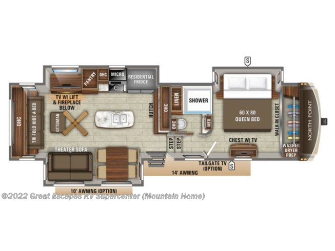 2019 Jayco North Point 315RLTS - New Fifth Wheel For Sale by Great Escapes RV Supercenter in Gassville, Arkansas