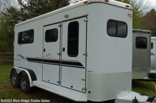 "2 Horse Trailer - 2001 Sundowner 2H BP with Dress 7'6 x 6'9"" available Used in Ruckersville, VA"