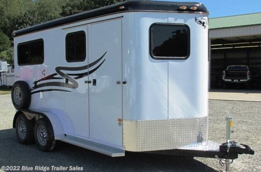 "2 Horse Trailer - 2021 Hawk Trailers 2H BP w/5ft Dress 7'6""x6'8"" available New in Ruckersville, VA"