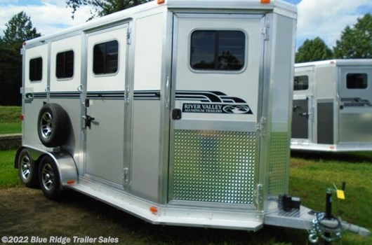 "2 Horse Trailer - 2021 River Valley 2H BP w/5' Dress, 7'6""x6'8"" available New in Ruckersville, VA"