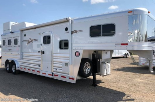 3 Horse Trailer - 2020 Platinum Coach Outlaw 3HGN w/ 10' SW OUTLAW Onan 4.0 available New in Kaufman, TX