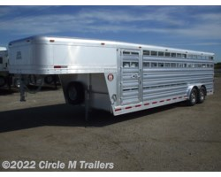 #6924S2 - 2018 Platinum Coach 24' stock trailer 8 WIDE !!