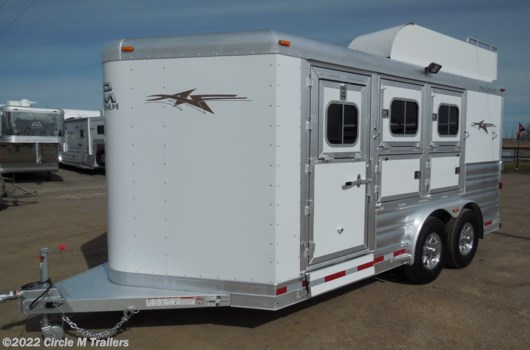 3 Horse Trailer - 2022 Platinum Coach 3 horse bumper pull  8 WIDE + MANGERS available New in Kaufman, TX