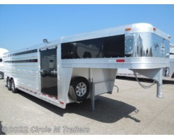#7124STK1 - 2018 Platinum Coach 24' Club Calf show trailer SLIDING GATE