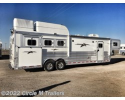 "#463128S1 - 2019 Platinum Coach Outlaw 3 horse 12'8"" SW SIDE LOAD + OUTLAW"