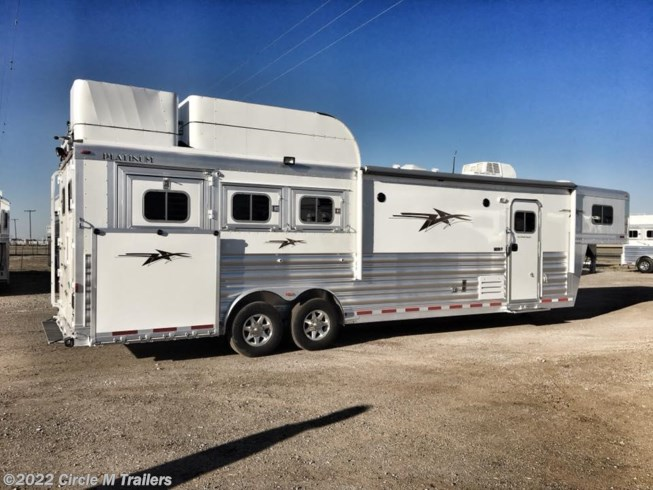 "2019 Platinum Coach Outlaw 3 horse 12'8"" SW SIDE LOAD + OUTLAW"