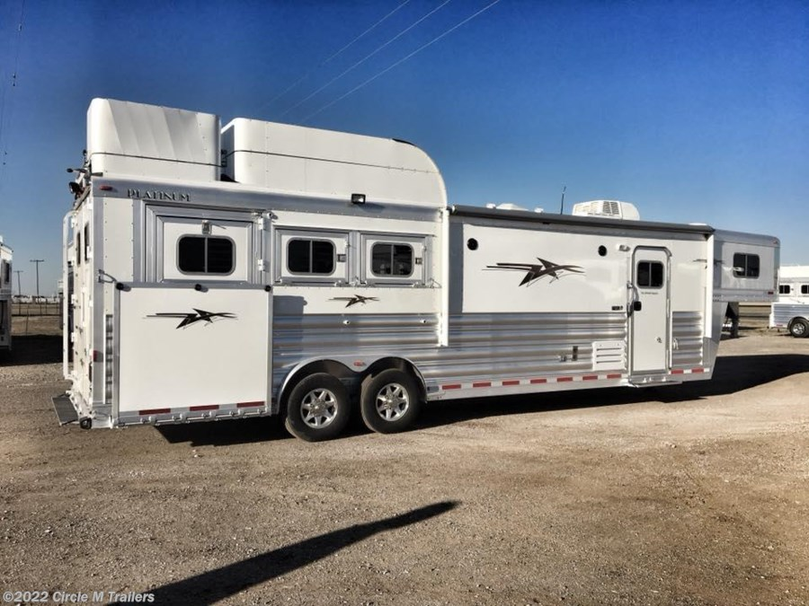 "2018 Platinum Coach Outlaw 3 horse 12'8"" SW SIDE LOAD + OUTLAW"