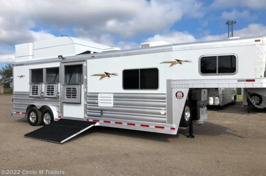 "3 Horse Trailer - 2020 Platinum Coach 3HGN w/ 10'4"" SW REVERSE Outlaw + ONAN available New in Kaufman, TX"