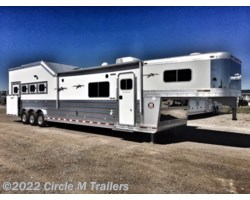"#814156SS3 - 2018 Platinum Coach Outlaw 4 horse 15'6"" SW with 9' slide out"