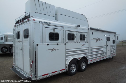 "3 Horse Trailer - 2019 Platinum Coach Outlaw 3-12' 8"" SW Outlaw SIDE LOAD + SLIDE OUT!! available New in Kaufman, TX"