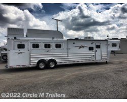 "#56413SS - 2018 Platinum Coach Outlaw 4 Horse 13' 8"" SW Outlaw SLIDE OUT SIDE LOAD!"