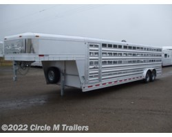 #8728S - 2018 Platinum Coach 28' stock trailer 8 wide 8,000# axles