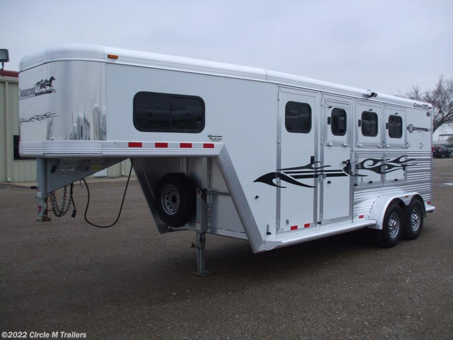 2009 Cimarron Norstar 3 Horse 4' Short wall with MANGERS!!!