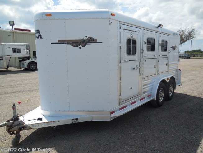 "2012 Platinum Coach Loaded 7'6"" WIDE 3 horse with MANGERS!!"