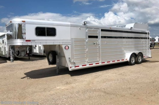 "6 Horse Trailer - 2021 Platinum Coach 25' Stock Combo 7'6"" wide..SWING OUT SADDLE RACK! available New in Kaufman, TX"