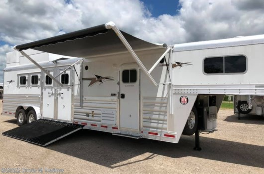 "4 Horse Trailer - 2019 Platinum Coach Outlaw 4H Reverse w/ 12' 8"" LQ CLEARANCE!! available New in Kaufman, TX"