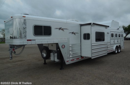 "4 Horse Trailer - 2021 Platinum Coach Outlaw 4 Horse REVERSE 14'8"" SW Tri-Fold Sofa available New in Kaufman, TX"