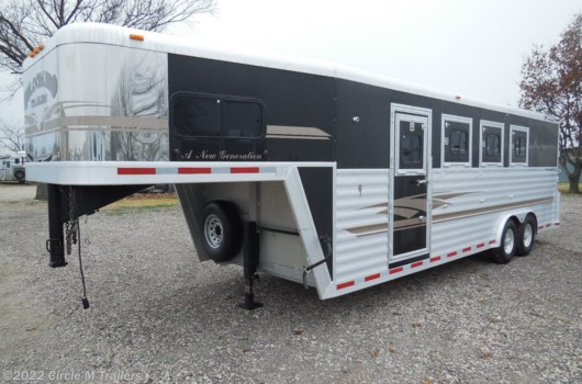 "4 Horse Trailer - 2001 Bloomer Evolution WARMBLOOD 45"" STALLS, 8 WIDE!! available Used in Kaufman, TX"