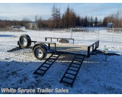 "#2PSAL12Q-94070 - 2017 Diamond C 83"" X 12' UTILITY W/ SIDE LOADING RAMPS"