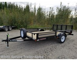 "#UT8312Q-00874 - 2018 Midsota 83"" X 12' UTILITY WITH SIDE RAIL RAMPS"