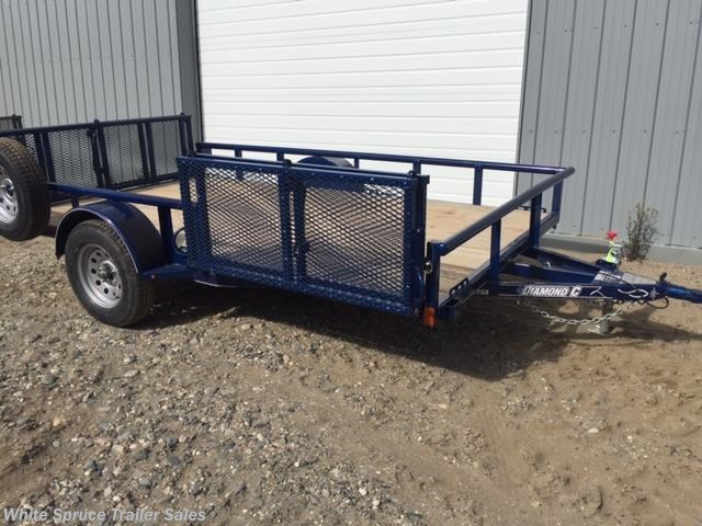 "2018 Diamond C 83"" X 12' UTILITY W/ BI-FOLD SIDE GATE"