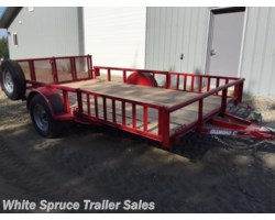 "#2PSAL12Q-97324 - 2018 Diamond C 83"" X 12' UTILITY W/ SIDE LOADING RAMPS"