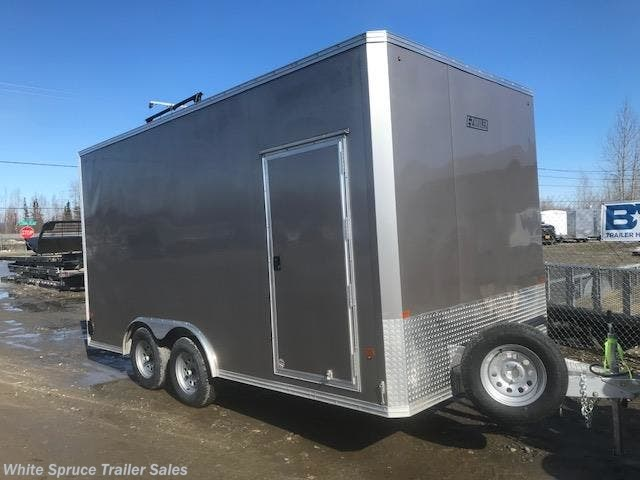 2018 Mission Trailers 8' X 16' X 7' ALL ALUMINUM ENCLOSED 7K