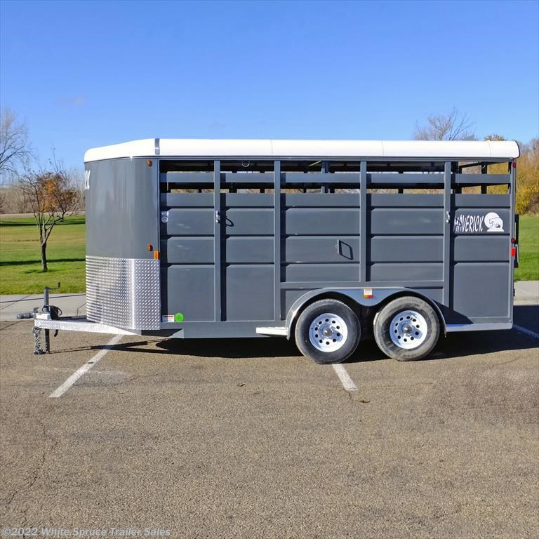 2018 Maverick 16' Steel Stock Trailer
