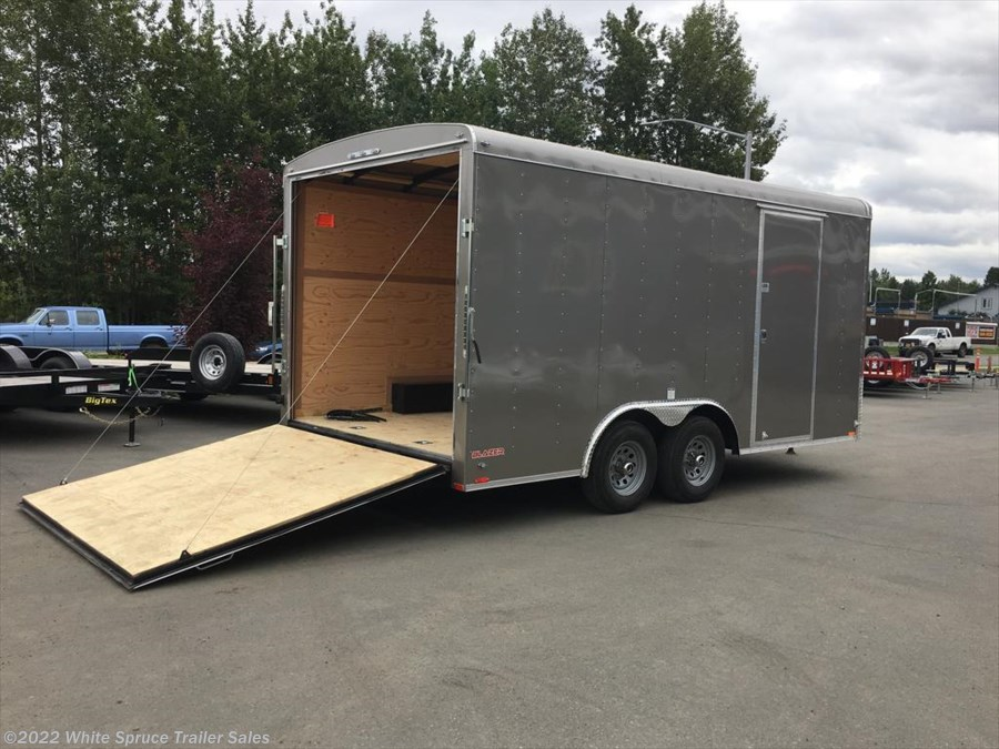 "2018 Cargo Mate  8.5' X 16' X 7'7"" ENCLOSED W/ RAMP 10K"