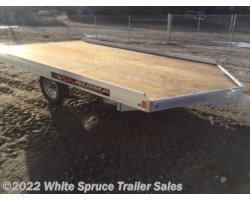 #861213-70084 - 2018 Aluma 8.5' X 12' ALUMINUM SNOW/ATV TRAILER