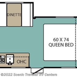 2017 Coachmen Viking 17FQS floorplan image