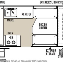 2017 Forest River Flagstaff Hard Side T21QBHW floorplan image