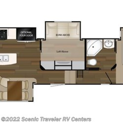 2017 Heartland RV ElkRidge ER 39 MBHS floorplan image