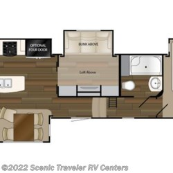 2018 Heartland RV ElkRidge ER 39 MBHS floorplan image