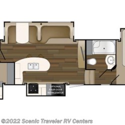 2018 Heartland RV ElkRidge ER 38 RSRT floorplan image