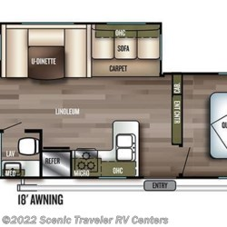 2018 Forest River Salem 30KQBSS floorplan image