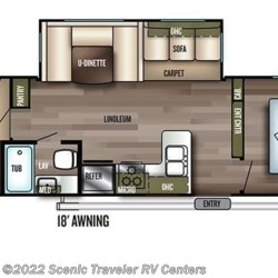 2018 Forest River Salem 31KQBTS floorplan image