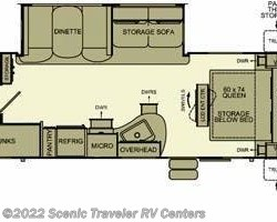 2014 EverGreen RV I-GO G256BH floorplan image