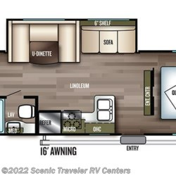 2019 Forest River Salem Cruise Lite 273QBXL floorplan image