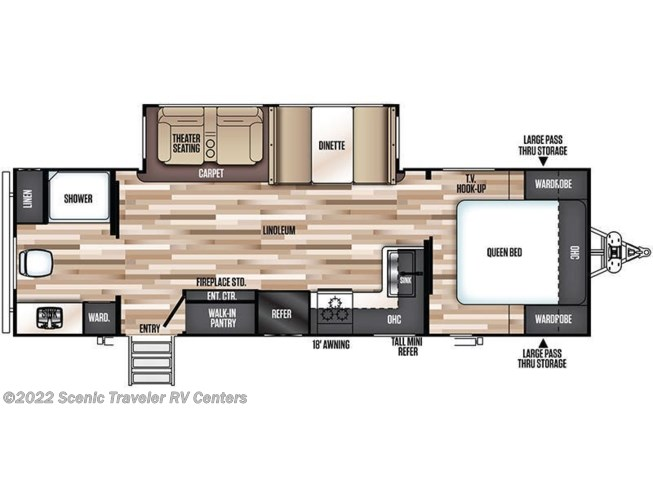 Floorplan of 2020 Forest River Salem Hemisphere Lite 25RBHL