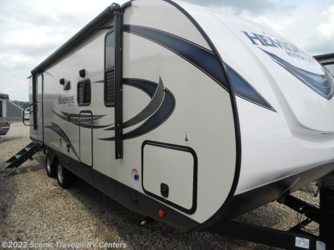 2020 Forest River Salem Hemisphere Lite 25RBHL - New Travel Trailer For Sale by Scenic Traveler RV Centers in Slinger, Wisconsin features Air Conditioning, Auxiliary Battery, Booth Dinette, CD Player, CO Detector, DVD Player, Exterior Speakers, External Shower, Fireplace, Furnace, Leveling Jacks, LP Detector, Medicine Cabinet, Microwave, Outside Entertainment Center, Outside Kitchen, Oven, Power Awning, Power Roof Vent, Queen Bed, Refrigerator, Rocker Recliner(s), Roof Vents, Shower, Skylight, Slideout, Smoke Detector, Spare Tire Kit, Stove Top Burner, Toilet, TV, Water Heater