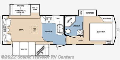 Floorplan of 2012 Prime Time Crusader 290RLT