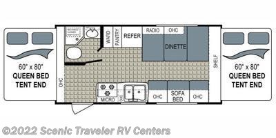 2015 Dutchmen Kodiak Express 186E floorplan image