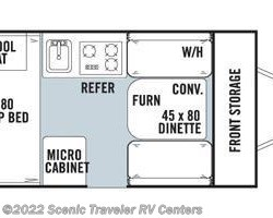 2014 Forest River Rockwood Hard Side A122S floorplan image