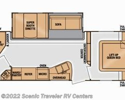 2015 Cruiser RV Radiance R-28BHSS floorplan image